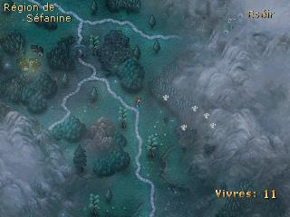 Carte du monde, au coeur de la région montagnarde d'Alyernise.